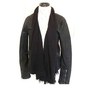 Free People Black Denim/knit Jacket